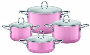 Silit 0015.1638.11 - Batería de cocina (4 piezas), color rosa
