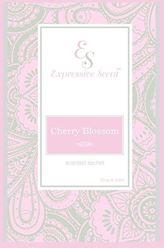6 Pack Cherry Blossom Large Scented Sachet Envelope By Expressive Scent