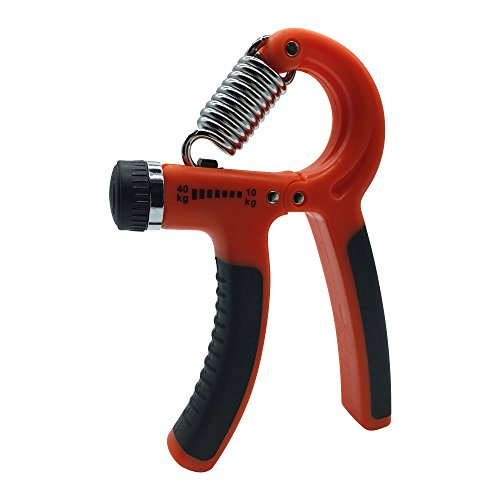 Strengthener Best Forearm Exerciser , Physical Rehabilitation Therapy or Beginner Weight Lifters , Hand Grip Strengthener with Adjustable Resistance from 22 to 88 lbs (Red black) (Beginner Grips)