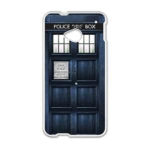 Police Box Design Fashion Comstom Plastic case cover For HTC One M7