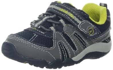Stride Rite SRT Palmer Sneaker (Toddler),Navy/Grey,4 M US Toddler