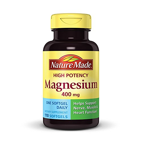 - Nature Made High Potency Magnesium 400 mg Softgels, 110 count