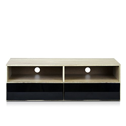 Furinno Ubah NT13015 No Tools Technique Entertainment Center with 2 Drawers, Sonoma (Sonoma Corner Tv Stand)