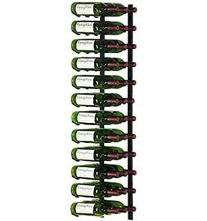 vintageview 36 bottle wall mounted metal hanging wine rack 3 deep black