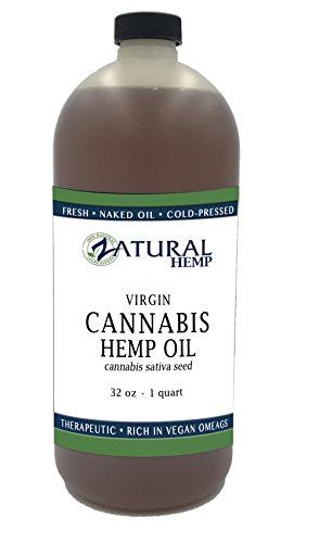 Hemp Oil  100  Pure No Fillers Or Additives  Therapeutic Grade  New Look Same Amazing Product   32 Ounce