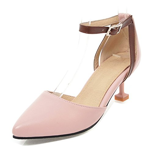 Femme heel Boucle Simple Grise Escarpins Aisun Bureau Rose Kitten ZdwqtZp