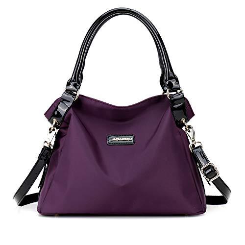 (Cooserry Hobo Shoulder Bag for Women, Handbags Water Resistant Nylon Top Handle Bags Slim Satchel,)
