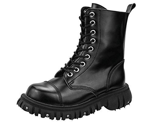 T.U.K. - Zapatos de cordones para hombre Negro negro