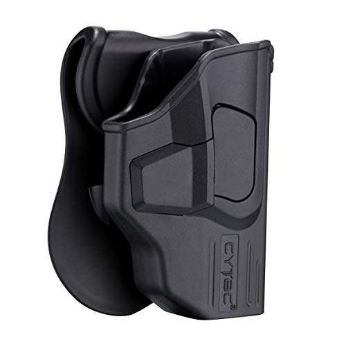 Glock 42 Paddle Holster OWB, Outside The Waistband Concealed Carry Belt Holster Fit Glock 42, Tactical Polymer Pistol Gun Holster with 360° Adjustable-Right Handed