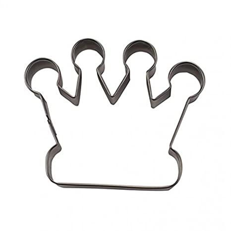 Staedter - Molde para galletas en forma de corona, color plata, acero inoxidable, Plateado, 7,5 cm: Amazon.es: Hogar
