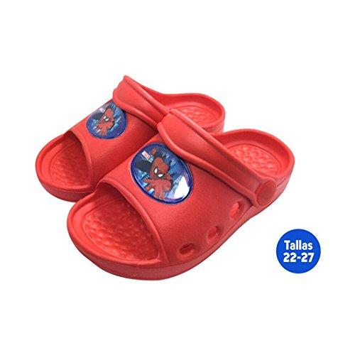 Hausschuhe Sommer Kind Spiderman rot–Größe E2–Größe E2