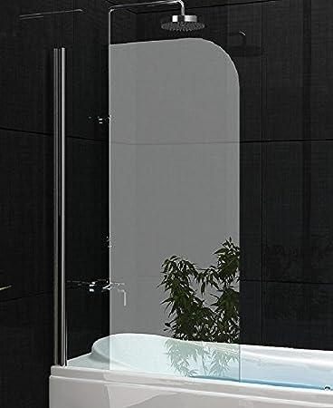 Mampara plegable de cristal, 140 x 80 cm, para bañera, efecto de loto: Amazon.es: Bricolaje y herramientas