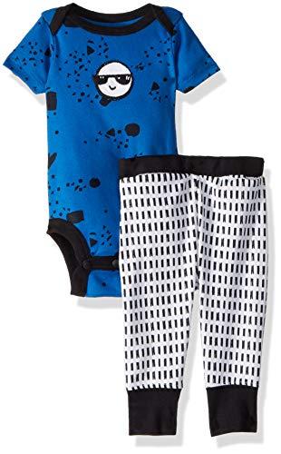 Lamaze Baby Boys Organic 2 Piece Shortsleeve Bodysuit and Pant Set