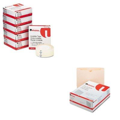 Economical Invisible Tape - KITUNV72300UNV83410 - Value Kit - Universal Economical File Jackets (UNV72300) and Universal Invisible Tape (UNV83410)