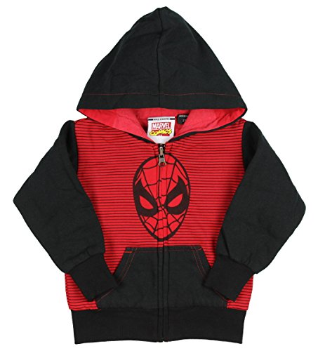 Marvel Spider-Man Little Boys & Toddler Reversible Stripe Hoodie (2/2T)