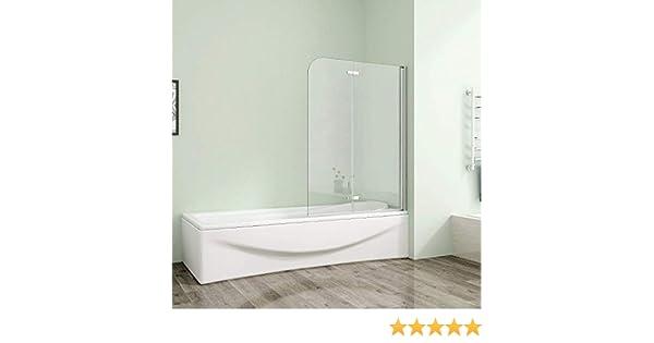 110 x 140 cm Mampara de bañera plegable pared 6 mm ducha pared – Mampara con al nano-recubrimiento as2e de 11H de 6: Amazon.es: Bricolaje y herramientas