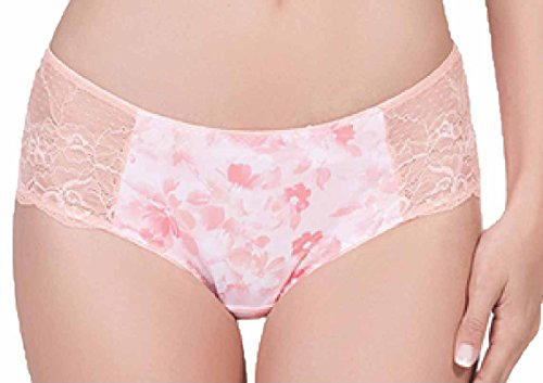 Affinitas Women's Nicole Hipster Panty with Lace (Floral Print) Nicole Hipster Panties
