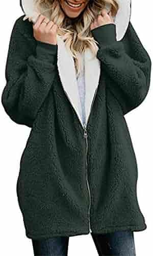 f0532085df8 Women's Jackets Winter Coat Women Cardigans Ladies Warm Jumper Fleece Faux  Fur Coat Hoodie Outwear Femme