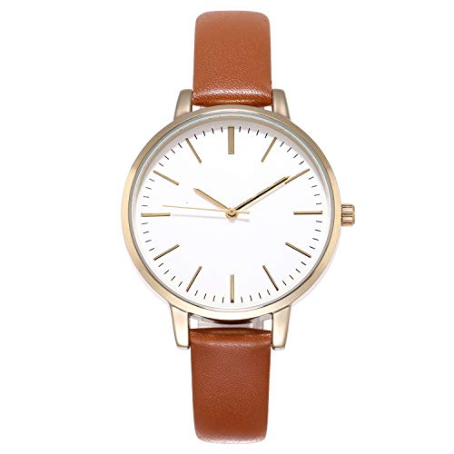 KIMOMT Women's Analog Casual Watch Floral Fashion Wristwatch with Leather Strap & Stainless Steel Mesh Strap