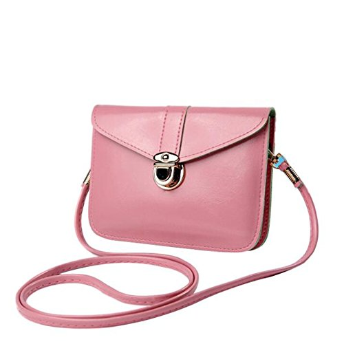 Fashion Messenger Phone Zero Bag Purse Pink Leather Bag Handbag Single Bluester Shoulder d8wpqd