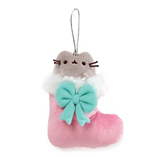 GUND Pusheen in Stocking Christmas Ornament Plush, Multicolor, 5
