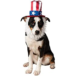 Rubie's Costume Co Uncle Sam Hat with Beard for Pets, Medium/Large