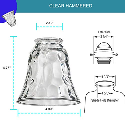 Ceiling Fan Light Covers Ceiling Fan Globes Replacement Glass Light Fixture Replacement Glass Dysmio Lighting Replacement Shade Height 4 75 Depth 4 75 Width 4 9 Fitter Size 2 25 4 Pack Pricepulse