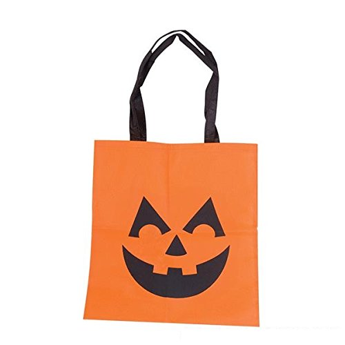 Reusable Fabric Halloween Trick or Treat Bag (Pack of 12)