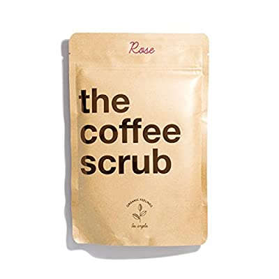 100% Natural Coffee Scrub With Organic Coffee, Vitamin E and Shea Butter