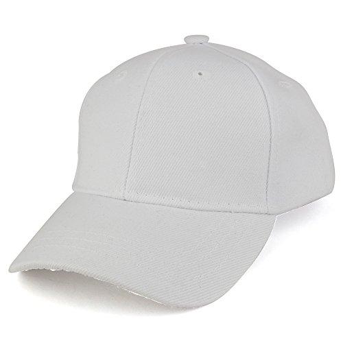 Trendy Apparel Shop Plain Infants Size Structured Adjustable Baseball Cap - White]()