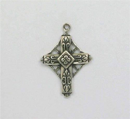 Sterling Silver 4 Directions Celtic Cross Charm - Jewelry Accessories Key Chain Bracelet Necklace Pendants