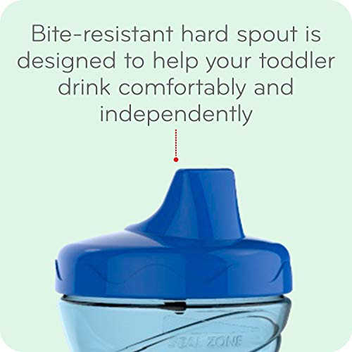 41WBW43RTPL - First Essentials By NUK Fun Grips Hard Spout Sippy Cup, 10 Oz, 2-Pack (69729)