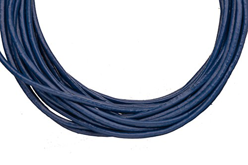 (Full-grain leather cord, 1.5mm round Navy blue 5 yard)