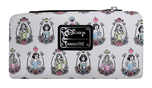 Loungefly x Disney Princess Portraits Allover-Print Wallet (Multicolored, One Size)