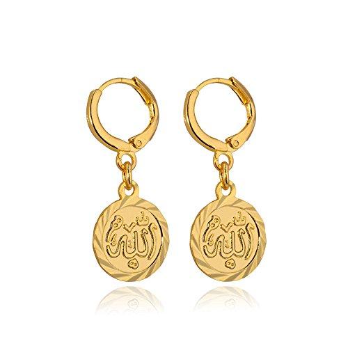 U7 Vintage 18K Gold Plated Earrings (Gold) - 3