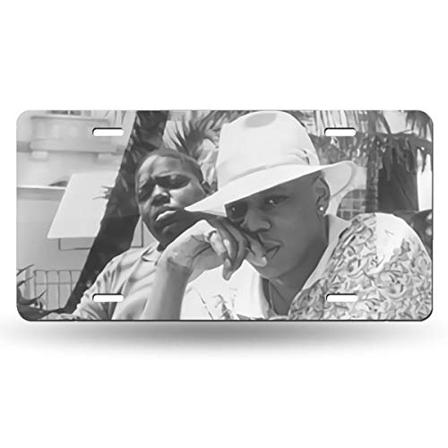 IUSGWY SWJI Jay-Z & Biggie- Brooklyn's Finest Custom Metal License Plate for Car 6