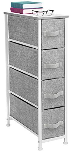 Sorbus Narrow Dresser Tower with 4 Drawers - Vertical Storage for Bedroom, -