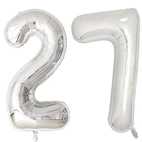 7 inch number balloons - 9
