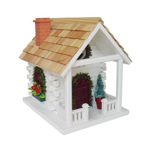 Home Bazaar Christmas Cabin Birdhouse