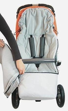 2IN1 Winterfu/ßsack 0 bis 36 Monate f/ür Babyschale//Kinderwagenschale//Kinderwagen//Buggy Schwarz