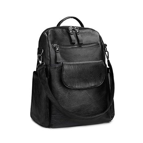 SAMSHOWME Women Ladies Backpack Purse PU Leather Waterproof Rucksack Casual Shoulder Bag by SAMSHOWME