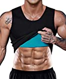 Men Neoprene Waist Trainer Vest Weight Loss Hot Sweat Slimming Body Shaper Sauna Tank Top Workout Shapewear No Zipper Small