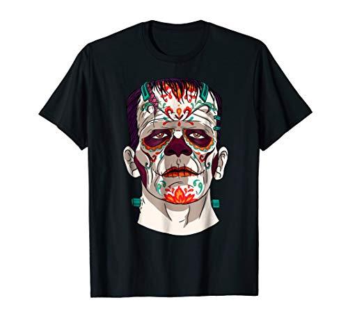 Catrina Frankenstein Sugar Skull Horror Movie T-Shirt