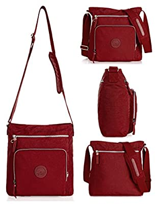Oakarbo Nylon Crossbody Purse Multi-Pocket Travel Shoulder Bag