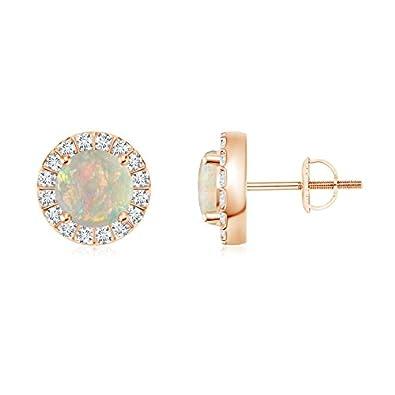 Angara Bar Set Black Onyx Stud Earrings in 14k Rose Gold SLpvUUHv