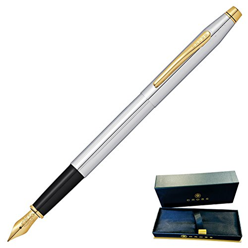 Engraved / Personalized Cross Classic Century Medalist Fountain Pen with Gold Trim AT0086-75. Fast 1 day engraving time at Dayspring Pens