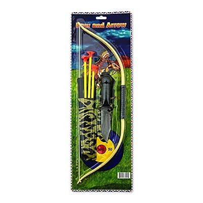 Fun Express Children's Play Bow & Arrow & Knife Set (6 Sets) Outdoor Play, Set=Bow 18 1/2