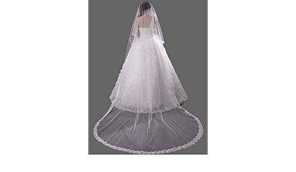 Amazon fjy ts one tier accessories lace applique edge wedding
