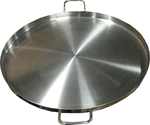 Bioexcel Comal Stir Fry Griddle - Stainless Steel Pan Flat Round 24 Inch - Choose size 12'' to 24'' - Heavy Duty BBQ Griddle for Portable Gas Stove by Bioexcel