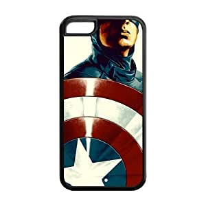 the Case Shop- Captain America Avengers Super Hero TPU Rubber Hard Back Case Silicone Cover Skin for iPhone 5C , i5cxq-816